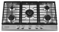 "KFGS366VSS KitchenAid Architect 36"" Gas Cooktop - Stainless Steel"