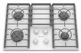"KGCC506RWW KitchenAid Architect 30"" Gas Ceramic Cooktop - White on White"