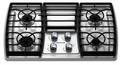 "KGCK366VSS KitchenAid Architect 36"" Gas Cooktop - Stainless Steel"