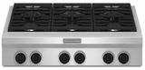 "KGCU467VSS KitchenAid  36"" Commercial Gas 6-Burner Cooktop - Stainless Steel"