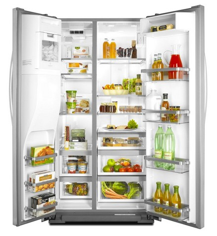 kitchenaid 23 cu ft side by side counter depth refrigerator