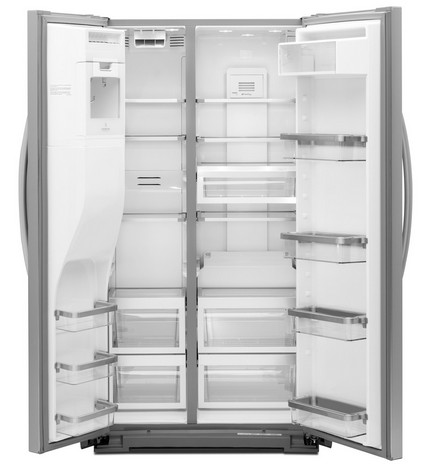kitchenaid 24 cu ft side by side counter depth refrigerator
