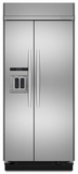 "KSSC36QTS KitchenAid Architect 36"" Built In Dispenser Refrigerator - Stainless"