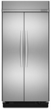 "KSSC42FTS KitchenAid Architect 42"" Built In SxS Refrigerator - Stainless"