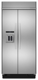"KSSC42QVS KitchenAid Architect 42"" Built-in Dispenser Refrigerator - Stainless"