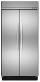 "KSSC48FTS KitchenAid Architect 48"" Built In SxS Refrigerator - Stainless"
