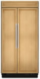 "KSSO48FTX KitchenAid Architect 48"" Built-in SxS Refrigerator - Panel w/ Aluminum Trim"