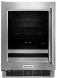 "KUBL304ESS KitchenAid 24"" Beverage Center with SatinGlide Metal-Front Racks - Left Hinge - Stainless Steel"