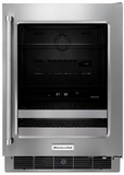 "KUBR304ESS KitchenAid 24"" Beverage Center with SatinGlide Metal-Front Racks - Right Hinge - Stainless Steel"