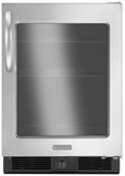 "KURG24RWBS KitchenAid Architect 24"" Undercounter Refrigerator - Stainless/Black"