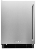 "KURL104ESB KitchenAid 24"" Undercounter Refrigerator with Glass Shelves - Left Hinge - Stainless Steel"