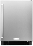 "KURR104ESB KitchenAid 24"" Undercounter Refrigerator with Glass Shelves - Right Hinge - Stainless Steel"