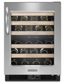KUWS24RSBS KitchenAid Architect 48 Bottle Wine Cellar - Stainless/Black