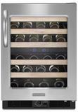 KUWS24RSSS KitchenAid Architect 48 Bottle Wine Cellar - Stainless Steel