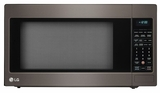 """LCRT2010BD 24"""" LG 2.0 cu. ft. Countertop Microwave Oven with TrueCookPlus and EZ Clean - Black Stainless Steel"""
