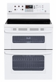 LDE3035SW LG 6.7 Cu. Ft. Capacity Electric Double Oven Range with SuperBoil Burner and EasyClean - White