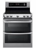 "LDE4411ST 30"" LG 7.3 Cu. Ft. Capacity Electric Range with Dual Oven and EasyClean Interior  - Stainless Steel"