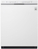 "LDF5545WW 24"" LG Front Control Dishwasher with QuadWash and EasyRack Plus - White"