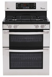 LDG3031ST LG 6.1 Cu. Ft. Capacity Gas Double Oven Range with 4 Sealed Gas Burners and EasyClean - Stainless Steel