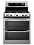 "LDG4311ST 30"" LG 6.9 Cu. Ft. Capacity Dual Oven Gas Range with ProBake Convection and EasyClean Technology - Stainless Steel"
