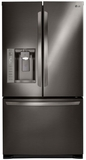 "LFX25973D LG 36"" Ultra Capacity 3 Door French Door Refrigerator with Dual Ice Makers - Black Stainless Steel"