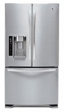 LFX25973ST LG Large-Capacity 3 Door French Door Refrigerator with Dual Ice Makers - Stainless Steel