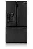 LFX25974SB LG Energy Star 24.7 Cu. Ft. French Door Refrigerator - Smooth Black