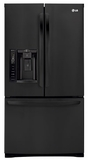 LFX28968SB LG Ultra-Capacity 3 Door French Door Refrigerator with Smart Cooling - Smooth Black