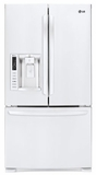 LFX28968SW LG Ultra-Capacity 3 Door French Door Refrigerator with Smart Cooling - Smooth White