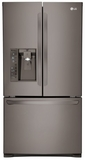 "LFXC24726D LG Diamond Collection 36"" Ultra Capacity 24 Cu. Ft. French Door Refrigerator - Coutner Depth - Stainless Steel"