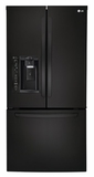 LFXS24623B LG 24.2 cu. ft. Ultra Capacity 3-Door French Door Refrigerator - Black