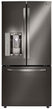 "LFXS24623D LG 33"" French Door 24.2 Cu Ft. Refrigerator with Smart Cooling System - Black Stainless Steel"