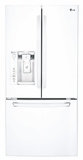 LFXS24623W LG 24.2 cu. ft. Ultra Capacity 3-Door French Door Refrigerator - White