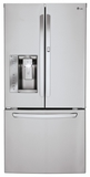 LFXS24663S LG 24 cu. ft. Ultra Capacity 3-Door French Door Refrigerator with Door-In-Door - Stainless Steel