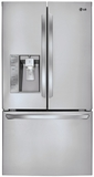 LFXS29626S LG Ultra-Capacity 3 Door French Door Refrigerator w/ Dual Ice Makers - Stainless Steel