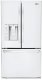 LFXS29626W LG Ultra-Capacity 3 Door French Door Refrigerator w/ Dual Ice Makers - White