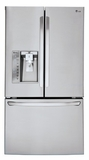 LFXS30726S LG 30 cu. ft. Super Capacity 3-Door French Door Refrigerator - Stainless Steel