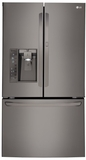"LFXS30766D LG Black Stainless Steel Series 36"" Super capacity 30 Cu. Ft. French Door Refrigerator with Door-in-Door - Black Stainless Steel"