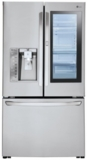 "LFXS30796S LG 36"" 30 cu. ft. 3-Door French Door Refrigerator with InstaView Door-in-Door and Smart Cooling Plus  - Stainless Steel"