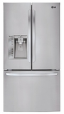 LFXS32726S LG 32 cu. ft. Mega Capacity 3-Door French Door Refrigerator - Stainless Steel