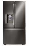 "LFXS32736D LG 36"" Mega Capacity 32 cu.ft. French 3-Door Refrigerator with Touch Sensitive Controls and Door Alarm - Black Stainless Steel"