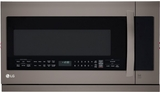 LMHM2237BD LG Diamond Collection 2.2 Cu. Ft. Over-the-Range Microwave Oven with Glass Touch - Black Stainless Steel