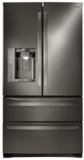 "LMXS27626D LG  36"" Freestanding French Door Refrigerator with 26.8 cu. ft. Capacity SpillProtector Shelves - Black Stainless Steel"