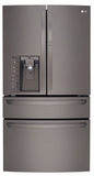 "LMXS30776D LG Black Stainless Steel Series 30 Cu Ft. 36"" 4-Door French Door Refrigerator with CustomChill Drawer - Black Stainless Steel"