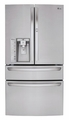 LMXS30776S LG 30 cu. ft. Super Capacity 4-Door French Door Refrigerator with CustomChill Drawer - Stainless Steel