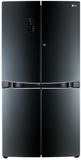 LPCS34886C LG 4 Door French Door Refrigerator with Dualdoor-in-Door with Luminous Contoured Glass Finish - Luminous Black