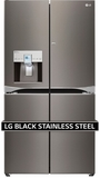"LPXS30886D LG Black Stainless Steel Series 4 Door 36"" French Door Refrigerator with Door-in-Door - Black Stainless Steel"