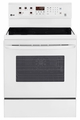 LRE3083SW LG 6.3 Cu. Ft. Capacity Electric Single Oven Range with True Convection and EasyClean - White