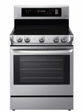 "LRE4211ST LG 30"" 6.3 Cu. Ft. Capacity Electric Range with Glass Touch Controls and EasyClean Interior  - Stainless Steel"