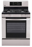 LRG3021ST LG 5.4 cu.ft. Capacity Gas Single Oven Range with 4 Burners - Stainless Steel